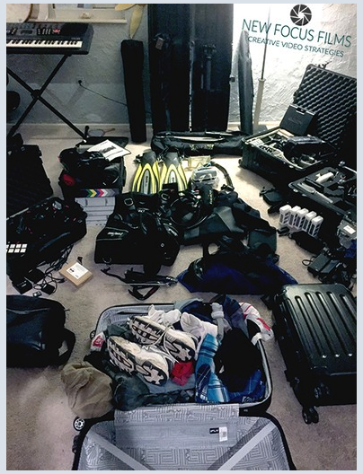packing for scuba filming new focus films video marketing startup corporate crowdfunding product video colorado production